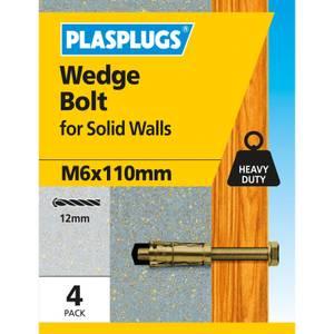 Wedge Bolt M6 X 110mm 4 Pk