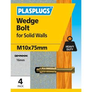 Wedge Bolt M10 X 75mm 4 Pk