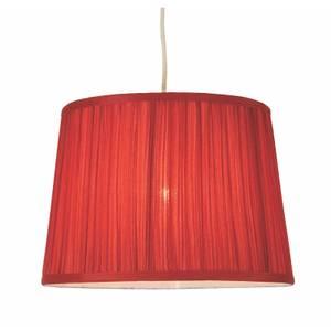Freya Mushroom Pleat Lamp Shade - Berry