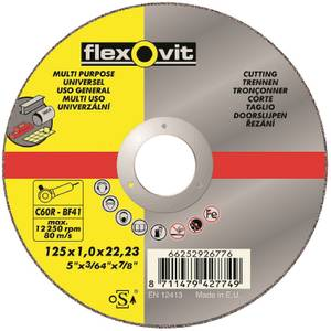 Flexovit Multi-Purpose Cutting Off Wheel - 125mm