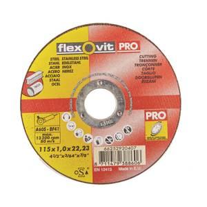 Flexovit PRO Steel Inox Cutting Off Wheel - 115mm - 5 Pack