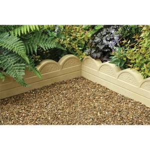 Stylish Stone Wave Top Edging 600mm - Gold