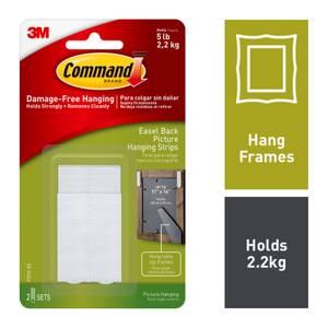 Command Medium Easel Back Picture Hanging Strips