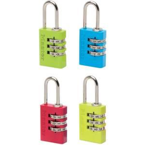 Master Lock Coloured Aluminium Combination Padlock - 20mm