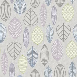 Superfresco Easy Paste the Wall Scandi Leaf Wallpaper - Lilac