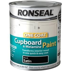 Ronseal Black - One Coat Cupboard Paint - 750ml