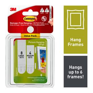 Command Medium and Large Picture Hanging Strips Value Pack