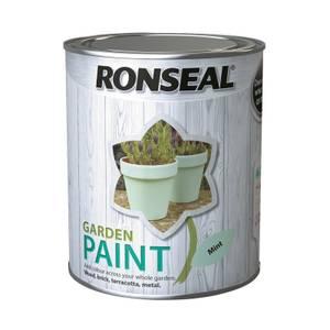 Ronseal Garden Paint 750ml Mint.