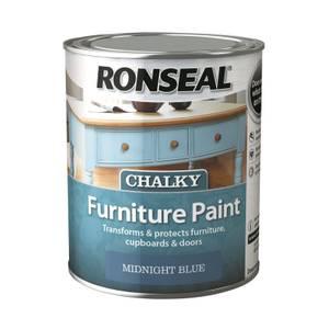 Ronseal Chalk Paint Midnight Blue - 750ml