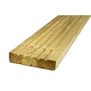 Softwood Deck Board - 28 x 144mm x 2.4m - Green