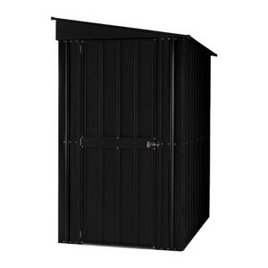 4x6ft Lotus Metal Lean To Shed Anthracite Grey