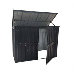 Lotus 5x3ft Metal Bin Store - Anthracite Grey
