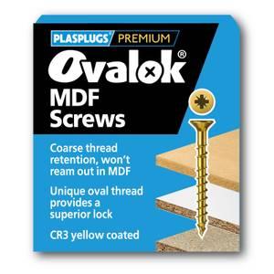 Ovalok MDF Screw  - 4.0 x 45mm - 50 Pack