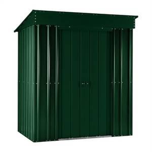 6x4ft Lotus Metal Pent Shed Heritage Green