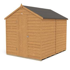 8x6ft Forest Overlap Dip Treated Apex Shed - No Window- incl. Installation
