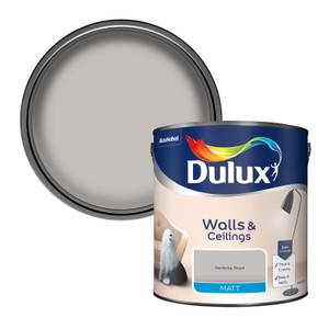 Dulux Perfectly Taupe - Matt Emulsion Paint - 2.5L