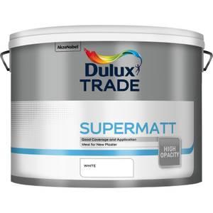Dulux Trade Supermatt Paint White - 10L