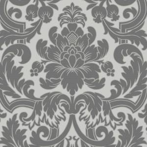Boutique Portland Damask Paste the Wall Black Wallpaper