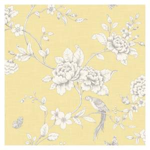 Grandeco Ellis Yellow Wallpaper