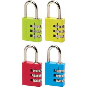 Master Lock Coloured Aluminium Combination Padlock - 30mm