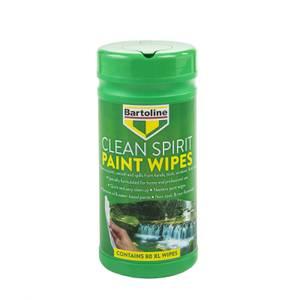 Bartoline Clean Spirit Paint Wipes - 80 Extra Large