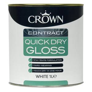Crown Contract Quick Dry Gloss Brilliant White 1L