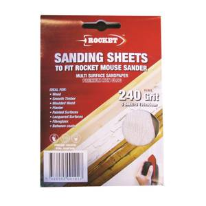 Rocket Mouse Sanding Sheet - 120g - 5 pack