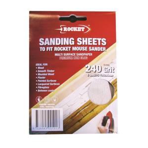 Rocket Mouse Sanding Sheet - 240g - 5 pack