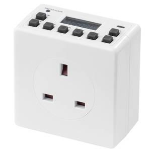 Arlec Compact Digital Timer Socket White