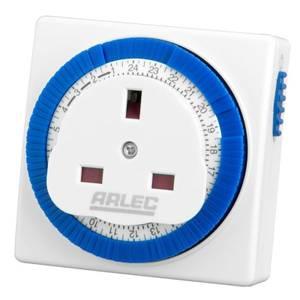Arlec 24 Hour Compact Timer Socket White