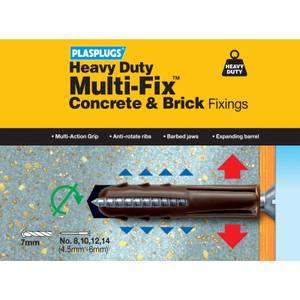 Heavy Duty Concrete Brick Fixings - 20 Pack