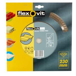 Flexovit Diamond Blade Continuous Rim TURBO Sintered Concrete/Reinforced Concrete - 230 x 7 x 22.23mm