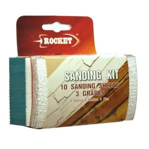 Rocket Sanding Sponge Kit - 10 Piece Pack