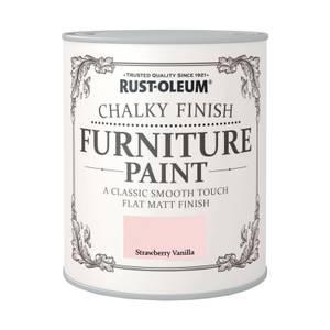 Rust-Oleum Chalky Furniture Paint - Strawberry Vanilla - 750ml
