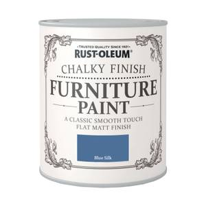 Rust-Oleum Chalky Furniture Paint - Blue Silk - 750ml