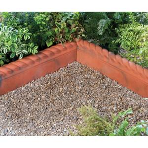 Stylish Stone Full Rope Top Edging 575mm - Rustic Red