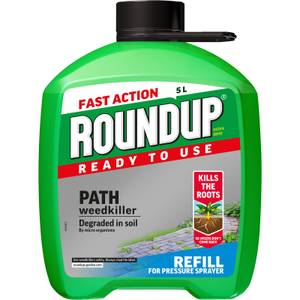 Roundup Path & Drive Ready To Use Pump N Go Weedkiller Refill - 5L