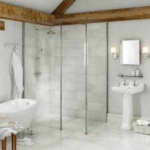 Vincenza White Wall and Floor Tile - 6 pack