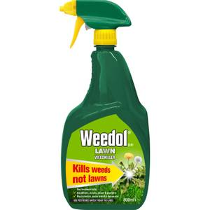 Weedol Gun! Lawn Ready To Use Weedkiller - 800ml