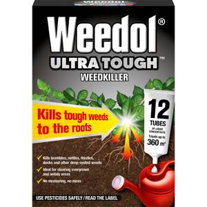 Weedol Ultra Tough Liquid Concentrate Weedkiller - 12 Tubes