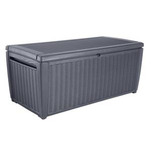 Keter Sumatra Rattan Effect Garden Storage Box - Grey / 511L