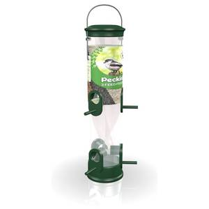 Peckish All Weather 3 Seed Feeder - Green