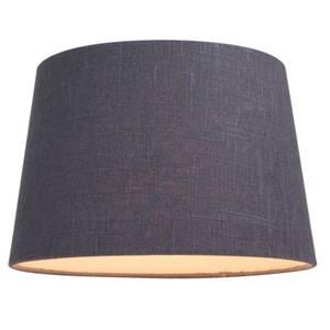 Linen Taper Lamp Shade - Charcoal - 30cm