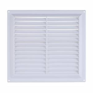 Gas Louvred Vent - 229 x 229mm - White Plastic