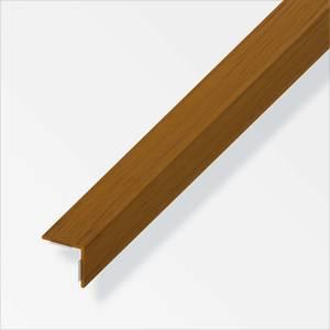 PVC Equal Angle Self-Adhesive Profile - Dark Oak - 1m x 20 x 20mm