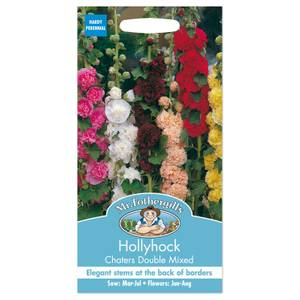 Mr. Fothergill's Hollyhock Chaters Double Mixed Seeds