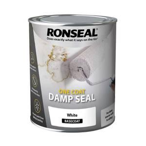 Ronseal White - One Coat Anti-Damp Paint - 750ml