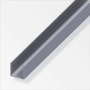 Aluminium Square U Combitech Profile - 1m x 15.5 x 15.5mm