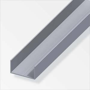 Aluminium Rectangular U Combitech Profile - 1m x 11.5 x 19.5mm