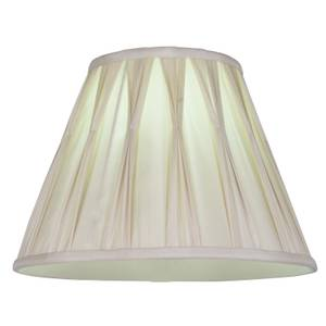 Silk Round Pleated Lamp Shade - Cream - 30cm